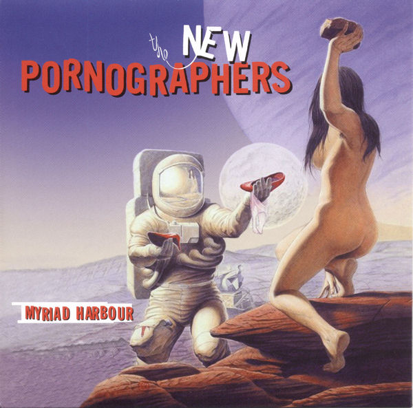 The New Pornographerin CD:n etukansi varastetulla kuvituksella / The New Pornographer's CD's front cover with stolen illustration