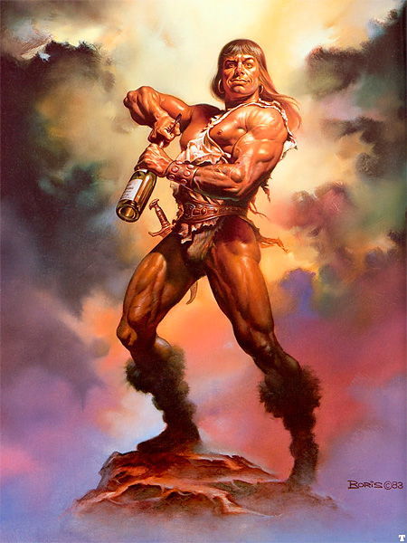 Boris Vallejo: Conan painting for Playboy