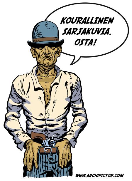 Lännensarjakuvat, kuvittaja / illustrator Ossi Hiekkala 2011