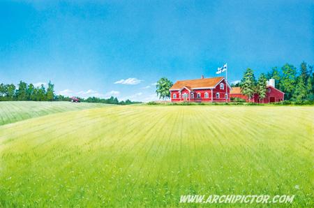 Snellmannin maatila, kuvittaja / illustrator Ossi Hiekkala 2011