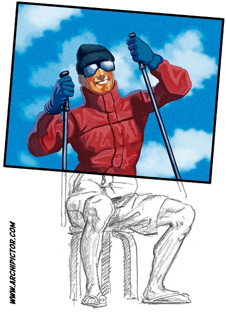Hissifilosofi, kuvittaja / illustrator Ossi Hiekkala 2011