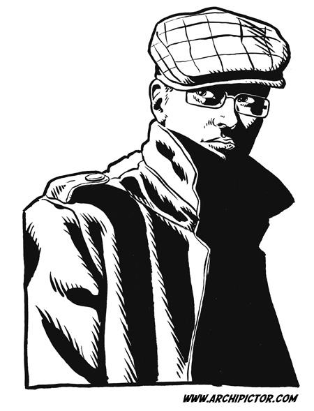 Omakuva, kuvittaja / illustrator Ossi Hiekkala 2011