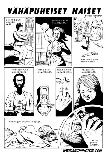 Vähäpuheiset naiset, kuvittaja / illustrator Ossi Hiekkala 2010