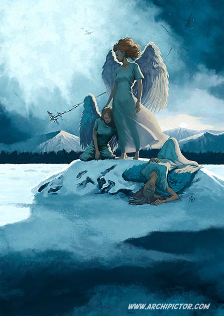 Fallen From The Sky, kuvittaja / illustrator Ossi Hiekkala 2011