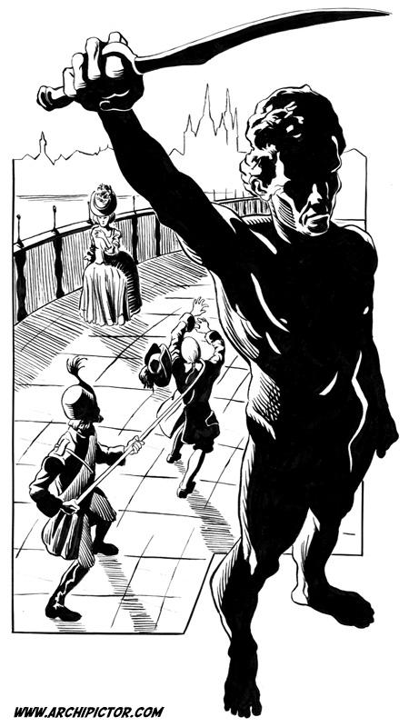 Dying Earth, kuvittaja / illustrator Ossi Hiekkala n. 2003