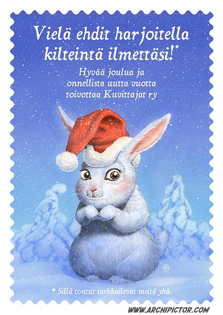 Kuvittajat -joulukortti 2011, kuvittaja / illustrator Ossi Hiekkala