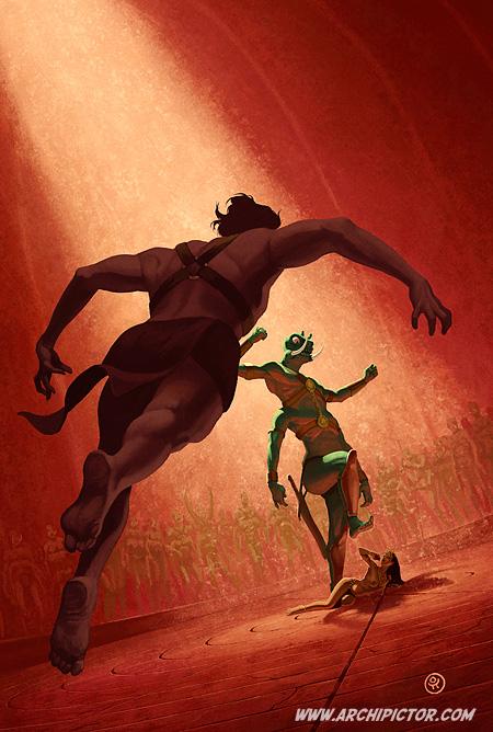 Marsin sankari, kuvittaja / illustrator Ossi Hiekkala 2012