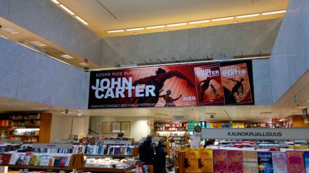 John Carter -juliste Akateemisessa kirjakaupassa / photo: Mikael Leppä  @rollofunk