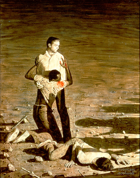 Southern Justice (Murder in Mississippi), Norman Rockwell 1965