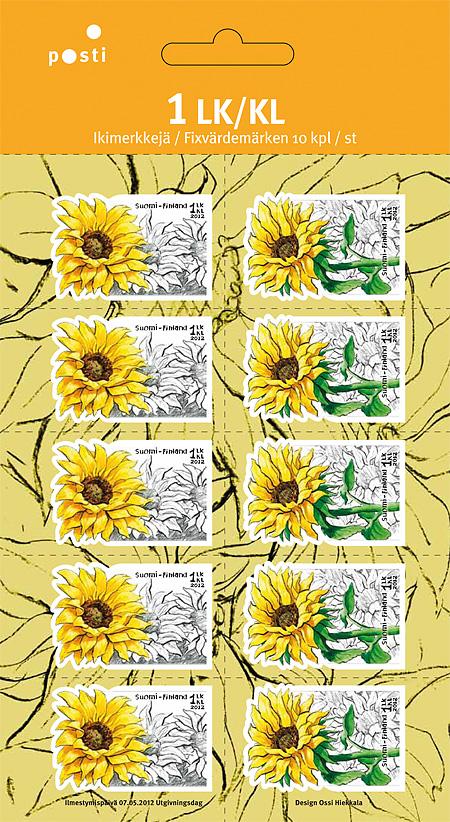 Auringonkukkia-postimerkkiarkki, Itella Posti 2012