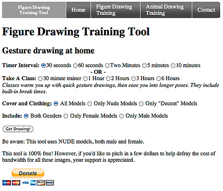 Figure Drawing Training Tool