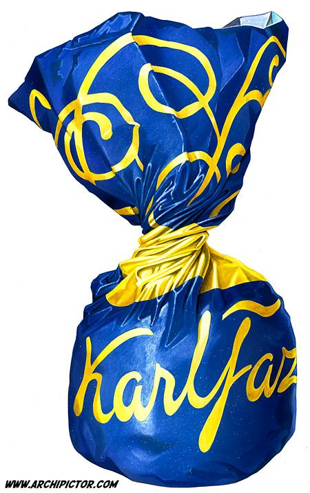 Karl Fazer -suklaakonvehti, kuvittaja / illustrator Ossi Hiekkala 2011