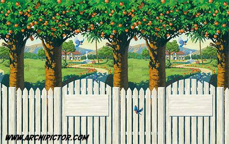 California Garden, kuvittaja / illustrator Ossi Hiekkala 2012