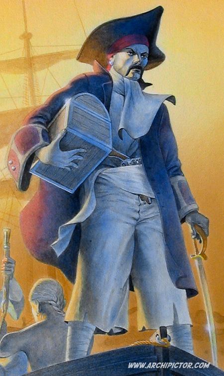 Pirate, detail; Kuvittaja / illustrator Ossi Hiekkala 2004
