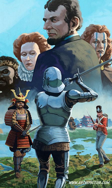 Nations (detail), kuvittaja / illustrator Ossi Hiekkala 2013