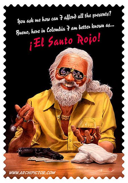 El Santo Rojo, kuvittaja / illustrator Ossi Hiekkala 2007