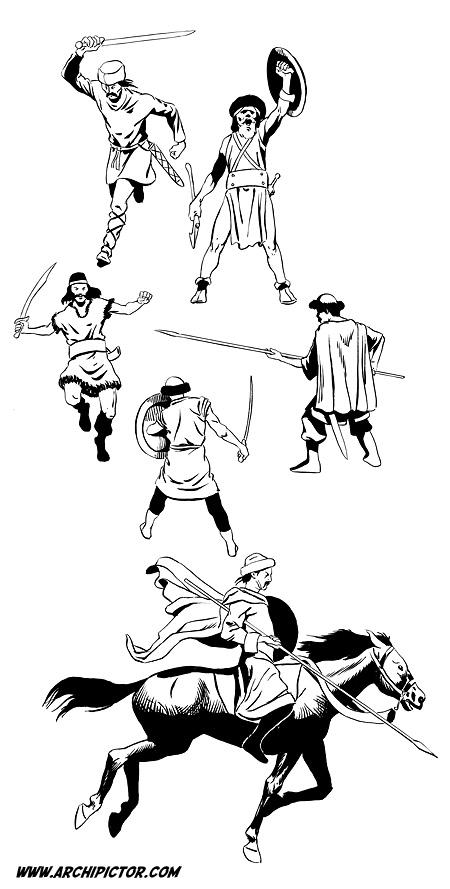 Historian tuulet 1: Hunnit, kuvittaja / illustrator Ossi Hiekkala 2002