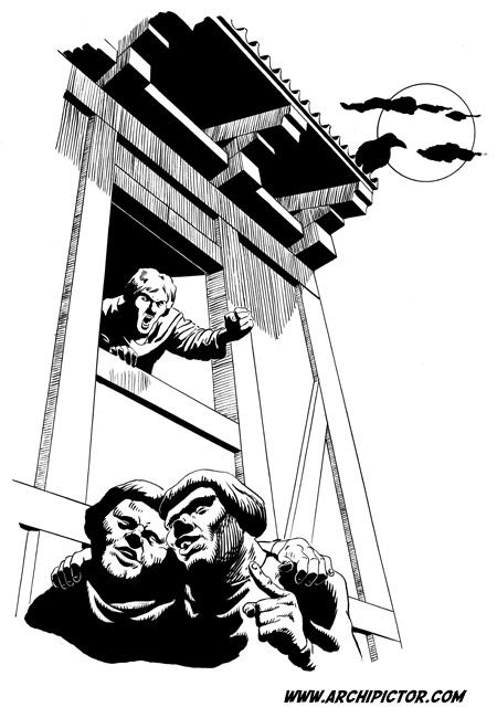 Historian tuulet 2: kaupunki, kuvittaja / illustrator Ossi Hiekkala 2003