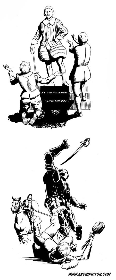 Nuijasota, kuvittaja / illustrator Ossi Hiekkala 2003