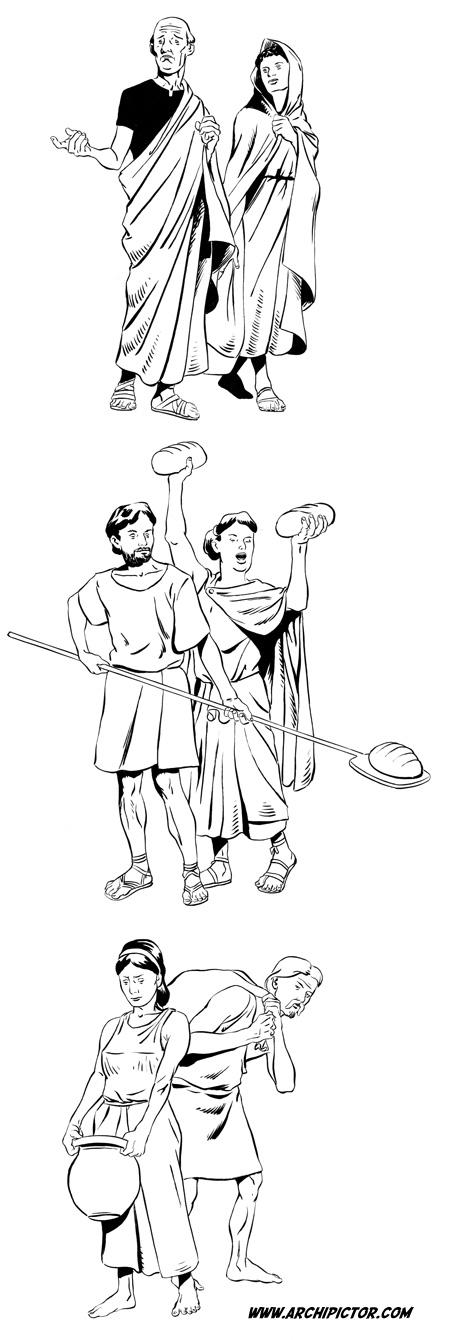 Historian tuulet 1: Roomalaiset, kuvittaja / illustrator Ossi Hiekkala 2002