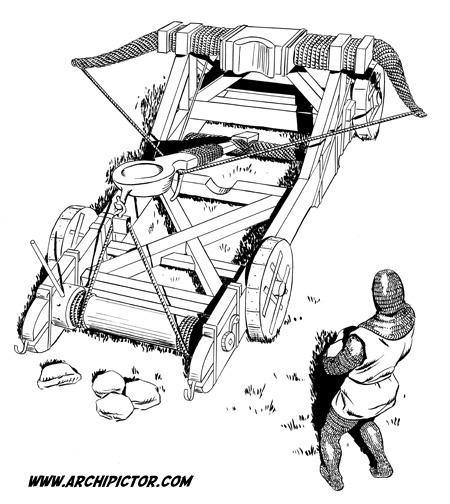 Historian tuulet 2: Catapult, kuvittaja / illustrator Ossi Hiekkala 2003