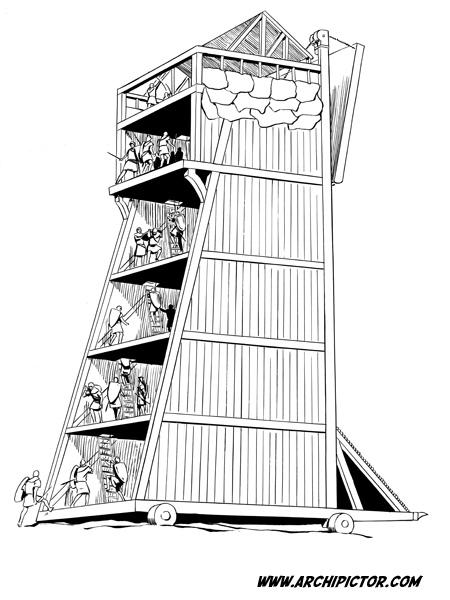 Historian tuulet 2: Siege tower, kuvittaja / illustrator Ossi Hiekkala 20033