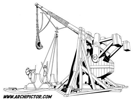 Historian tuulet 2: Trebuchet, kuvittaja / illustrator Ossi Hiekkala 2003