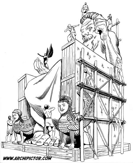 Zeuksen kuvapatsas, kuvittaja / illustrator Ossi Hiekkala 2002