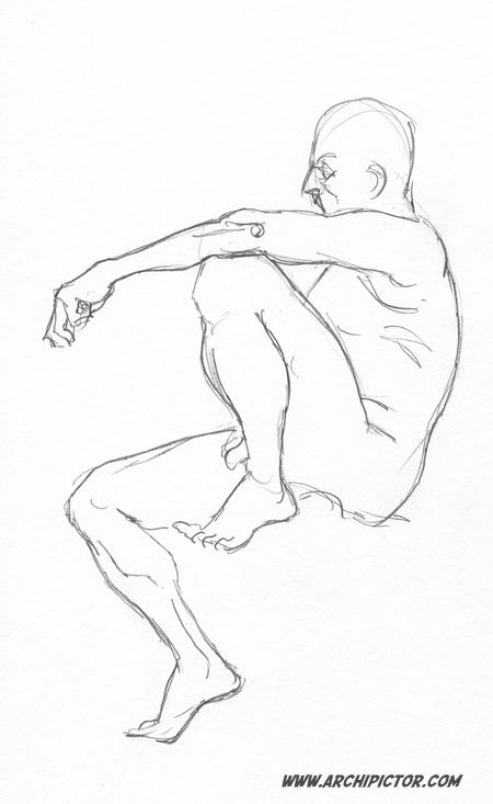 Croquis Taidehalli 29/10/2013, kuvittaja / illustrator Ossi Hiekkala 2013