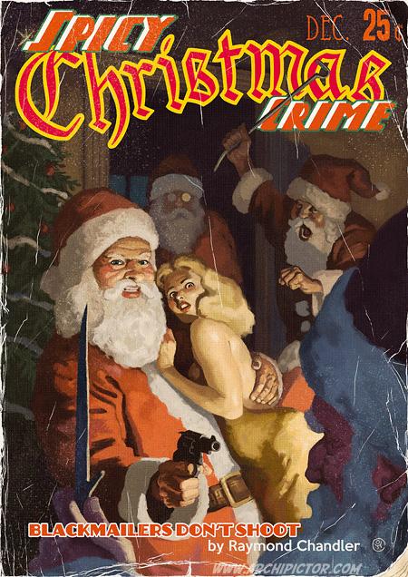 Saucy Christmas Crime, (2013), kuvittaja / illustrator Ossi Hiekkala 2013