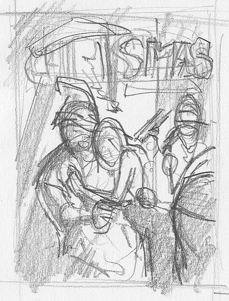 Rough sketch 1, kuvittaja / illustrator Ossi Hiekkala 2013