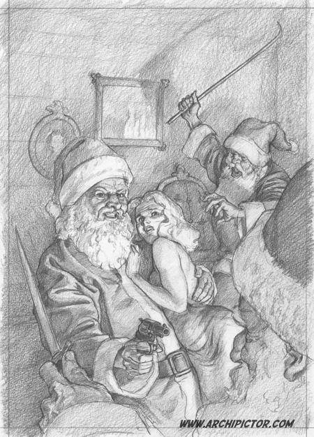 Final sketch,  kuvittaja / illustrator Ossi Hiekkala 2013