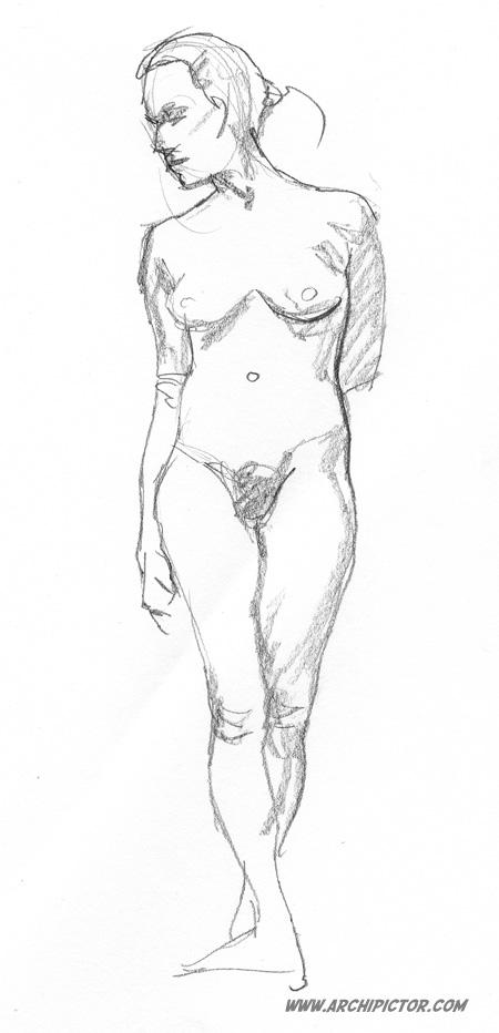 Croquis 21/01/2014, kuvittaja / illustrator Ossi Hiekkala 2014