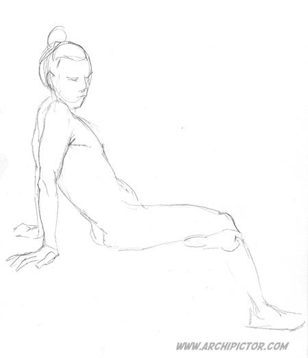 croquis 27/01/2014, kuvittaja / illustrator Ossi Hiekkala 2014