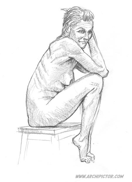 croquis 28/01/2014, kuvittaja / illustrator Ossi Hiekkala 2014