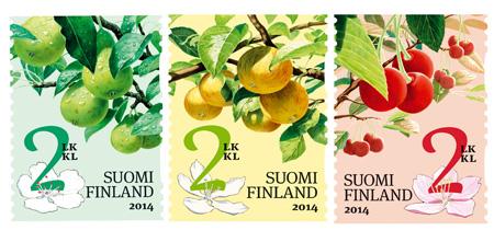 Puutarhan hedelmät, Itella Posti 2014