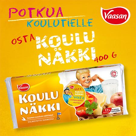 Koulunäkki-mainos, Vaasan 2014