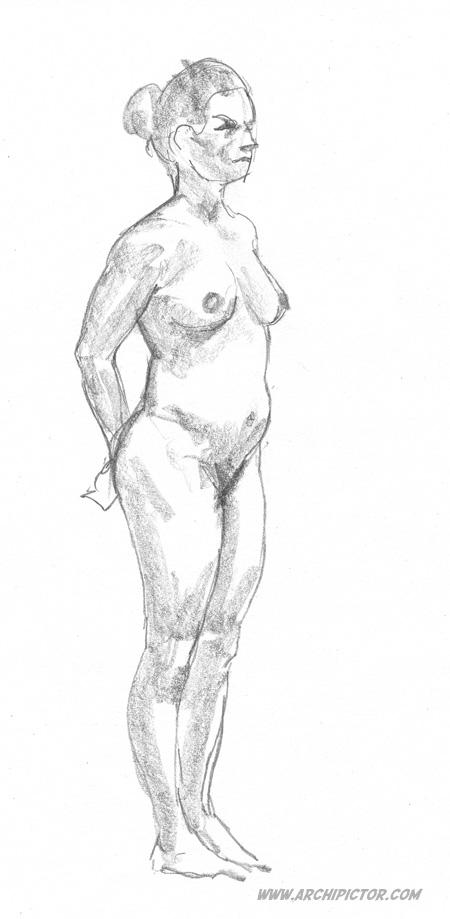 Croquis Taidehalli 04/10/2014, kuvittaja / illustrator Ossi Hiekkala 2014