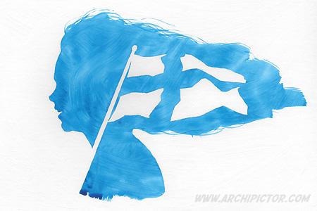Lapsen oikeuksien päivä, kuvittaja / illustrator Ossi Hiekkala 2014