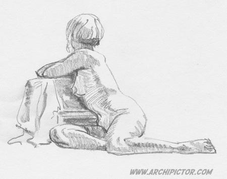 Croquis Taidehalli 161214, kuvittaja / illustrator Ossi Hiekkala