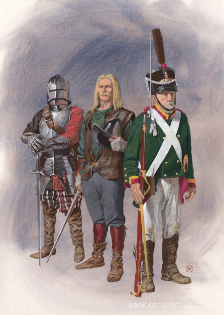 Olavinlinnan vartiomiehet, kuvittaja / illustrator Ossi Hiekkala 2014