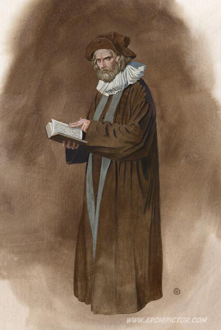 Olavinlinnan saarnamies, kuvittaja / illustrator Ossi Hiekkala 2014