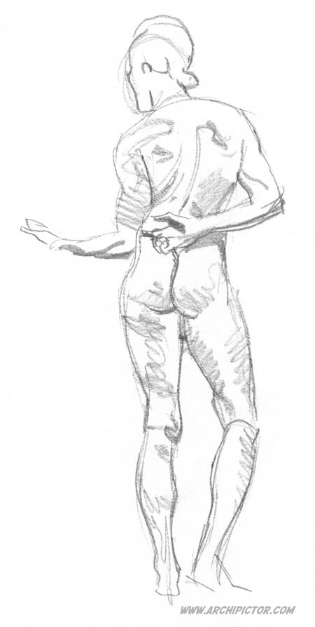 Croquis Taidehalli 3.2., kuvittaja / illustrator Ossi Hiekkala 2015