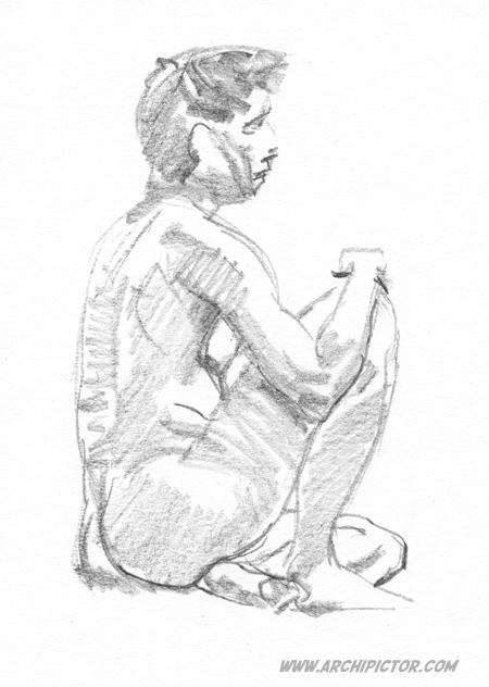 Croquis Taidehalli 24.2., kuvittaja / illustrator Ossi Hiekkala 2015