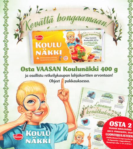 Vaasan Koulunäkki, kevätkampanja, OS/G MarCom 2015