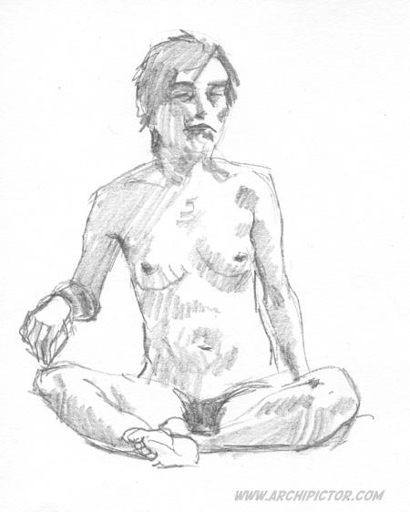 Croquis Taidehalli 3.3., kuvittaja / illustrator Ossi Hiekkala 2015