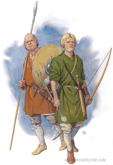 Saksilaissoturit, kuvittaja / illustrator Ossi Hiekkala 2015