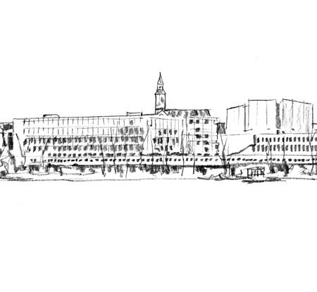 Meripaviljonki: yksityiskohta, kuvittaja / illustrator Ossi Hiekkala 2015