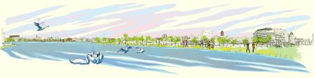 Meripaviljonki: kevät, kuvittaja / illustrator Ossi Hiekkala 2015