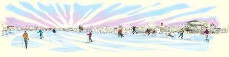 Meripaviljonki: talvi, kuvittaja / illustrator Ossi Hiekkala 2015